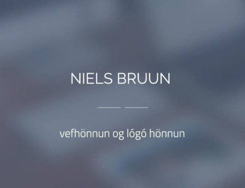 Lógó og vefhönnun fyrir Niels Bruun arkitekt