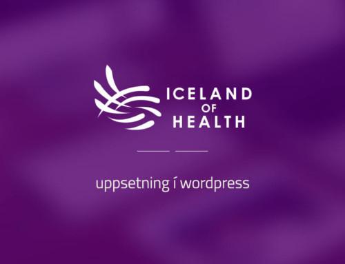 Vefsíða fyrir Iceland of Health